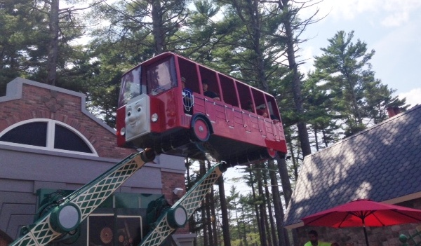 Bertie's Bus Tour, one of the more daring rides at Thomas Land at Edaville USA