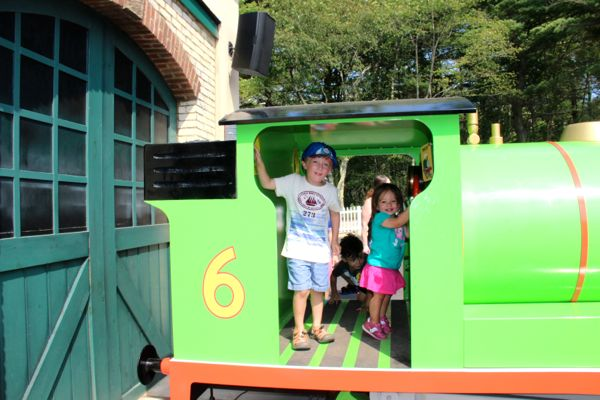 Playing inside Percy at Thomas Land at Edaville USA